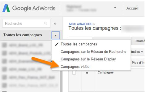 Adwords interface unifiée