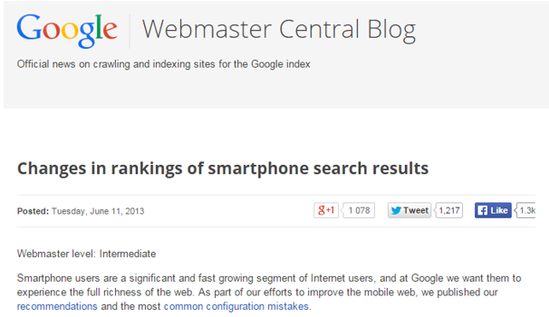Google Webmaster annonce