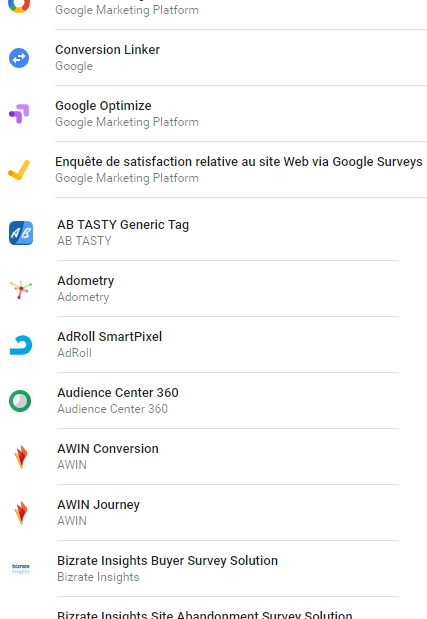 tags natifs sur Google Tag Manager
