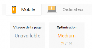 Google Speed Update Unavailable