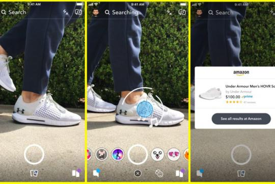 Visual Search sur Snapchat, en partenariat avec Amazon